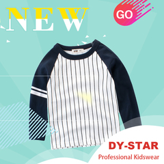 New Autumn Boys Stripe Long Sleeve Cotton T-Shirts Clothes High Quality Children Tees Kids Baby Tops white 90cm