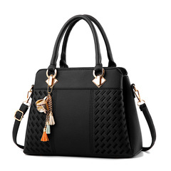 Ladies bag new women's bag European and American fashion handbag shoulder killer bag black 31*14*23 cm