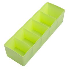 Multi-grid plastic drawer storage box Household desktop socks underwear tie compartment storage green