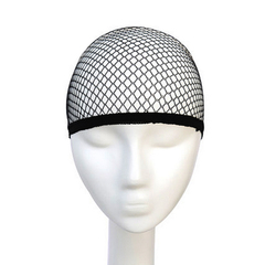 Top sale wig quality unisex black wig hair net hat weave wig cap and hair net black one size