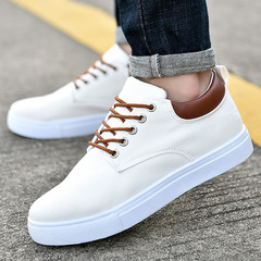 2019 new canvas shoes Korean men's wild casual shoes trend extra large code shoes low to help white 39
