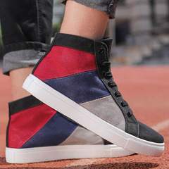 Large size men's shoes 2019 high to help men's casual shoes shoes color canvas shoes tide shoes gray 47