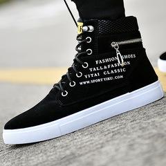 High shoes men's canvas shoes men's casual shoes trend wild shoes shoes tide shoes boots black 39