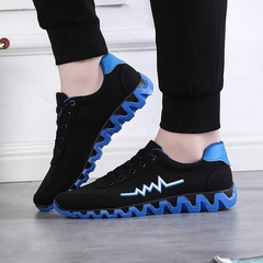 New sports shoes men's casual shoes fashion trend shoes low to help cloth shoes blue 39