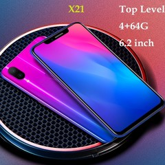 6.2 Inch Touch ID Smartphone Android GSM/WCDMA 4G RAM+64GB ROM Touch Screen Top core Red 6.2 black