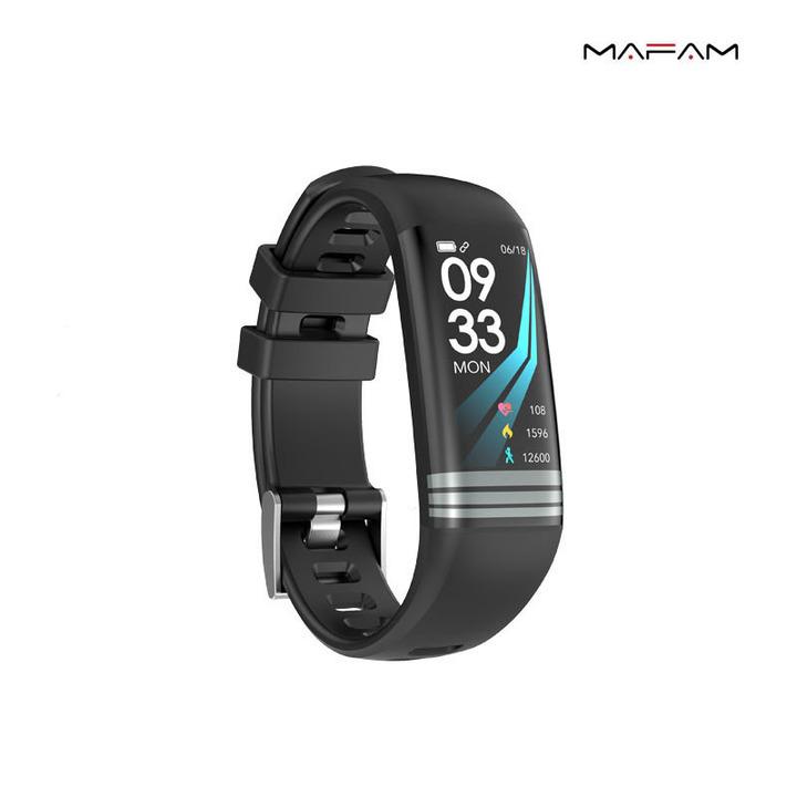 Smart Bracelet Heart Rate Blood Pressure Oximetry Sleep Detection Multi-sports Mode black 0.96 inch