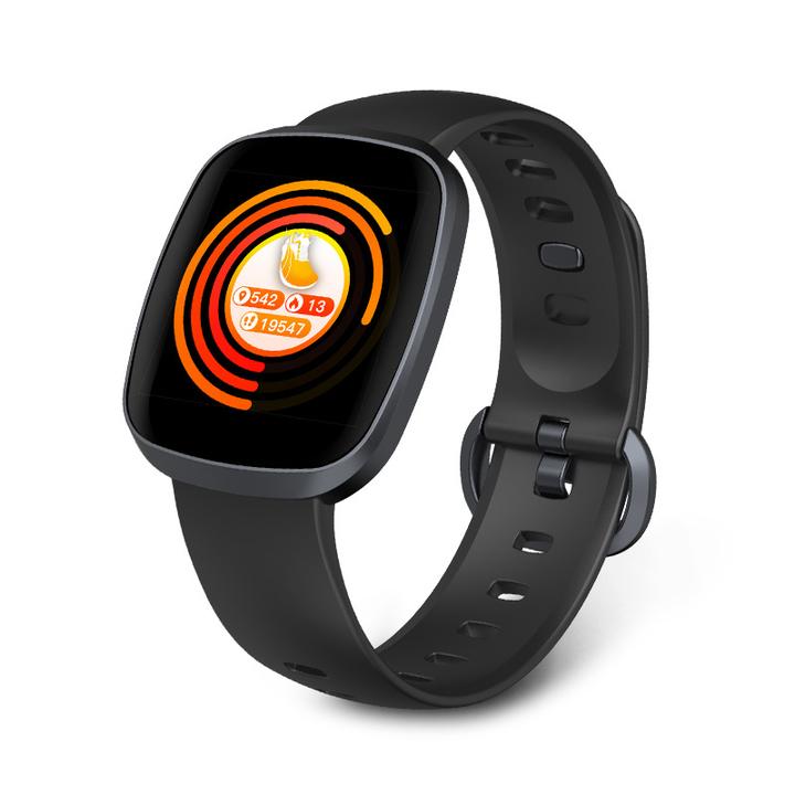 Color screen smart bracelet movement steps sleep health monitoring waterproof intelligence black 1.3 inches