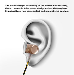 High Quality Metal Earphones In-ear Subwoofer with Microphone Call Mobile Phone MP3 Computer