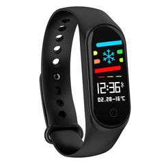 Color Screen Smart Bracelet Blood Oxygen IP67 Waterproof Heart Rate USB Direct Charge black xl
