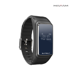 Smart watch, bracelet Bluetooth headset combined with call listening music heart rate monitoring black xl