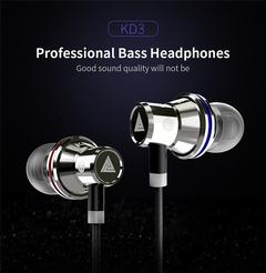 QKZ KD3 In-ear HIFI Headset Mobile Music Line Control Karaoke Headset Silver