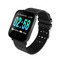 Color Screen Smart Bracelet Real-time Heart Rate Blood Pressure Sleep Monitoring Waterproof Running black