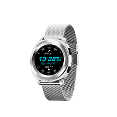 Fashionable waterproof sport smart watch Bluetooth Wrist Watch Heart Rate Blood Pressure Monitor moonlight silver 46 * 44 * 13mm
