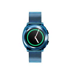 Fashionable waterproof sport smart watch Bluetooth Wrist Watch Heart Rate Blood Pressure Monitor Starry blue 46 * 44 * 13mm