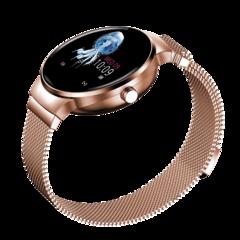 Smart watch Bluetooth Waterproof  Wristband HR BP Monitoring Fitness Smart Health Bracelet moonlight silver xl