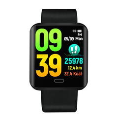 Smart Bracelet Color Touch Screen Smart Blood Pressure Stainless Steel Sport Fitness Tracker Watch knight black xl