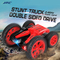 Double Sided Off Road Driving Remote Control Car Transforming Toy red xl