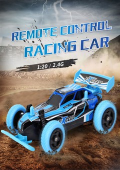 Remote Control Racing Car Independent Shock Absorption Truck Toy blue xl