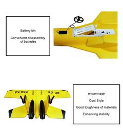 Simulation SU-35 Model Remote Control Aircraft yellow xl