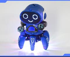 Six Feet Dancing Robot Music Robot Toy Blue xl