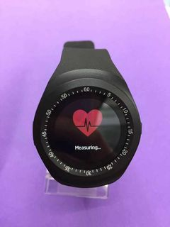 Smart watch sports fitness round screen heart rate sphygmomanometer fitness watch black