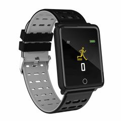 Smart Watch Sedentary Remind Heart Rate Sphygmomanometer Fitness iOS and Android black