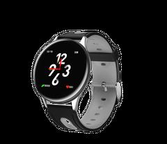 Fashion Smart Watch Bluetooth Waterproof HR BP Monitor Sport Fitness  Smart watch moonlight silver