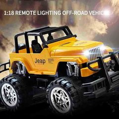 Remote Control Jeep Off-Road Radio Control Toy yellow 23.5 x 14.5 x 13.5