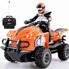 Driving Doll Remote Control Motorcycle Off-Road Toy blue 23.5 x 14.5 x 13.5