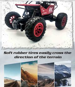 Alloy Body Frame Independent Shock Absorption Remote Control Climbing Car Multi-Player Toy red 20 x 14 x 12 cm