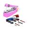 New portable needle threader cordless mini handheld clothes sewing machine color random color random one size