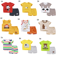 Boy cartoon T blood shorts children's suit cotton children's clothing 90cm-130cm 1# 90cm