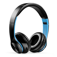 High Quality Wireless Bluetooth Headphones  Headset Foldable Noise Cancelling  Sport Headset blue