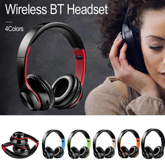 High Quality Wireless Bluetooth Headphones  Headset Foldable Noise Cancelling  Sport Headset black