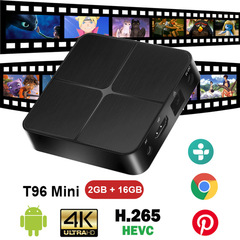T96 Mini Android 4K HD TV Box 2G+16G H2.65 Rk3229 Quad Core 2.4G Wifi Set-Top Box kodi Media Player