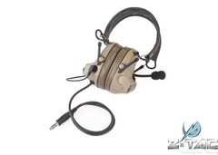 Airsoft Z041 ZComtac II Headase Element Noise Cancelling Headset Upgraded Tactical Ear Protector DE