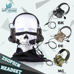 Z-TAC Z041 New Material Noise Reduction Headset PU Synthetic Leather Headband For Airsoft Players bk