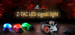 Z-TAC EX262 New Material Velcro Backlit Snail Light Strobe Light Helmet Light Signal Light red bk