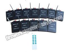 12cues fireworks  firing system remote control system black 27*27*4.2cm