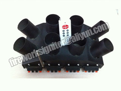 8cues fan shape stage fountain indoor fireworks firing system black 25*25*20cm