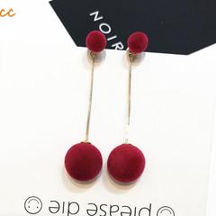 2019 New Party Bar Sweet Jewelry Tassel Long earrings  temperament earrings red 2.7inch