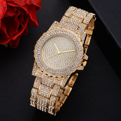 2019 Fashion Women Wrist Watch Rhinestone Diamond Wristwatches Ladies Luxury Quartz Watches 25cm Rose Gold