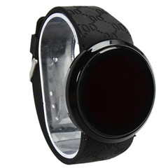 2019 Round Dial Touch Screen Smart Watch Led Digital Wrist Watch Sports Wristwatch For Children black