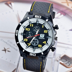 Roman Style Mens Watches Numerals Black Ray Racing Silicone Glass Watches Analog Sport Wristwatch blue
