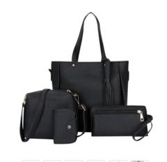 Woman Bag Set Fashion Female Purse and Handbag Four-Piece Shoulder Bag Tote Messenger Purse Bag Blake One Size