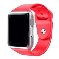 A1 Smart Watches SIM/TF Bluetooth Sport WristWatch Smartwatch with Camera Android Phone Infinix red One size