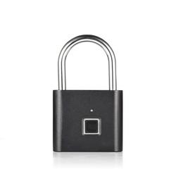 Golden Security Keyless USB Rechargeable Door Lock Fingerprint Smart Padlock Quick Unlock Black