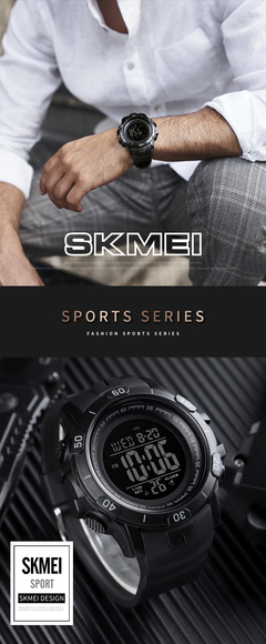 Fashion sports multi-function men's watch foreign trade hot outdoor leisure student electronic watch black
