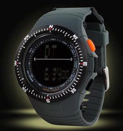 Men's waterproof sports watch student table outdoor climbing multi-function electronic watch gray