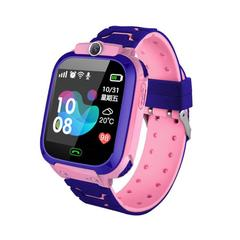 Children's phone watch five generations of intelligent positioning call photo touch screen English pink